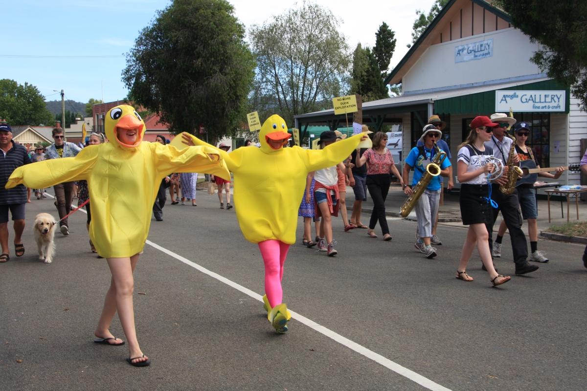 12. duck race street parade