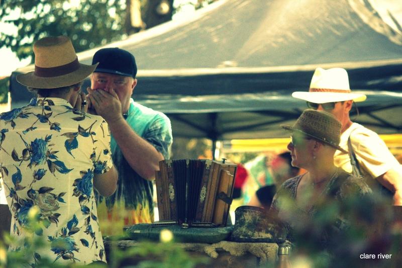 Harmonica seller at Saturday market